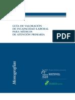 Valoración Incapacidades en APS.