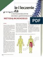 Badanie i Leczenie Pacjenta z Zespołem Bólowym Odcinka Lędźwiowego Kręgosłupa Metodą McKenziego