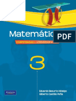Matemáticas 3 Competencias, Aprendizaje, Vida -Eduardo Basurto Hidalgo