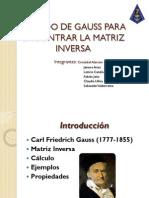 METODO de Gauss Para Encontrar La Matriz Inversa