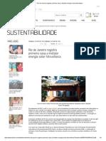 IBahia -Rio de Janeiro Registra Primeira Casa a Instalar Energia Solar Fotovoltaica