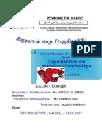 Organisation de Magasin d'Emballage Sialim Maroc