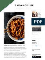 Beijing Fried Sauce Noodles - Zha Jiang Mian - The Woks of Life
