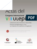 ULEPICC ActasVIII Congreso UNQ
