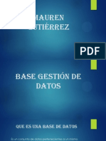 Base Gestión De Datos