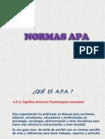 A.P.A, Normas APA en power point, para eleaborar textos y bibliografias.  Usado en Tesis