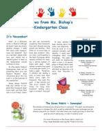 bishop newsletter november 3