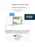 Seconde République Du Turkestan Oriental