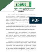 Declaración Segunda Vuelta Feuc y CS
