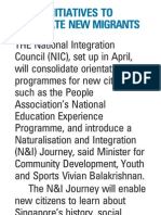 More initiatives to integrate new migrants, 24 Nov 2009, My Paper