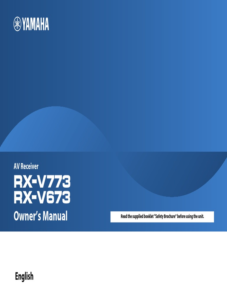 RX V673 Manual new | Hdmi | Electrical Connector