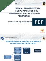 Min Finanzas Ecuador 2011 Presentacion Modelo de Equidad COOTAD