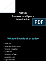 Session 1 CISB594 Business Intelligence Introduction