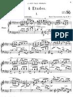 Szymanowski 4 Etudes op 4