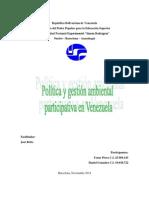 Política y Gestion Participativa en Venezuela
