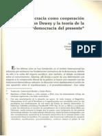 La democracia como cooperación reflexiva. John Dewey y la teoría de la democracia del presente (Honneth)