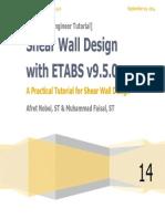 Shear Wall Design With ETABS v9.5.0 Nobel - Faisal
