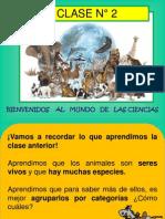 CLASE 2  LOS ANIMALES Y SU CLASIFICACIÓN PLANIF UNID 1 CIENCIAS 2° BÁSICO