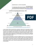 A pirâmide global da riqueza e o aumento da desigualdade