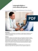 Exploración Neuropsicológica e Importancia de La Detección Precoz