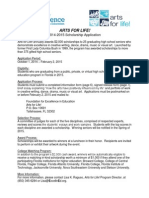 2014-15 Arts for Life Application