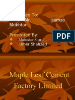 Maple Leaf Cement Factory Limited