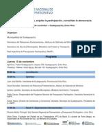 Programa VII Encuentro Nacional de PP | 13 y 14 nov Gualeguaychú