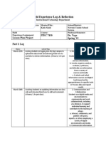itec 7430  field experience log lesson plan