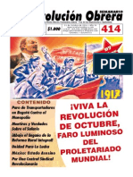 Semanario Revolución Obrera Ed. 414