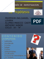 Hipotesis Metodologia de Investigacion Expo