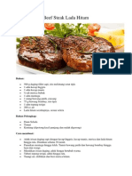 Beef Steak Lada Hitam