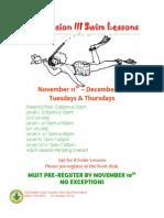 Swim Lessons November 2014