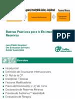 1.- Buenas Practicas Estimacion de Reservas - JP Gonzalez - Golder
