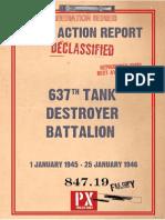 After Action Report 637th Tank Destroyer Battalion Luzon Campaign 22 Nov 44 Thru 30 June 45 (1)