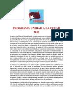 Programa Unidad FEUAH 2015