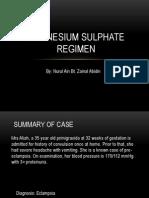 Magnesium Sulphate Regimen