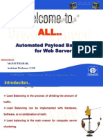 Automated Pay load balancing for web Server. (Proxy Server)