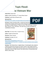 edu 338 topic flood vietnam war