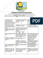 homework choice board