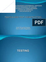 Language Testing - Test Construction