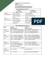 Jadual Exam Akhir Tahun 2014
