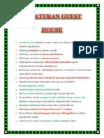 Peraturan Guest House