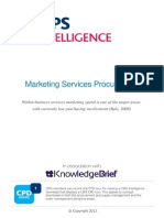 Marketing Services Procurement