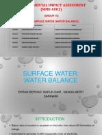 EIA Water Balance Presentation