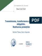 1.7 Transmisiunea Transformarea Si Stingerea Obligatiilor.restituirea Prestatiilor
