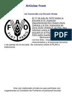Escuela Granja y La FAO