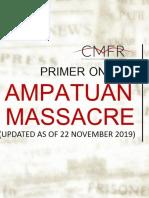 Ampatuan, Maguindanao Massacre Primer (Updated November 23, 2017)