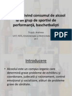 Aspecte Privind Consumul de Alcool La Un Grup