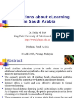 Perceptions About eLearning in Saudi Arabia