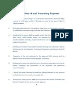 M&E Consultant Scope